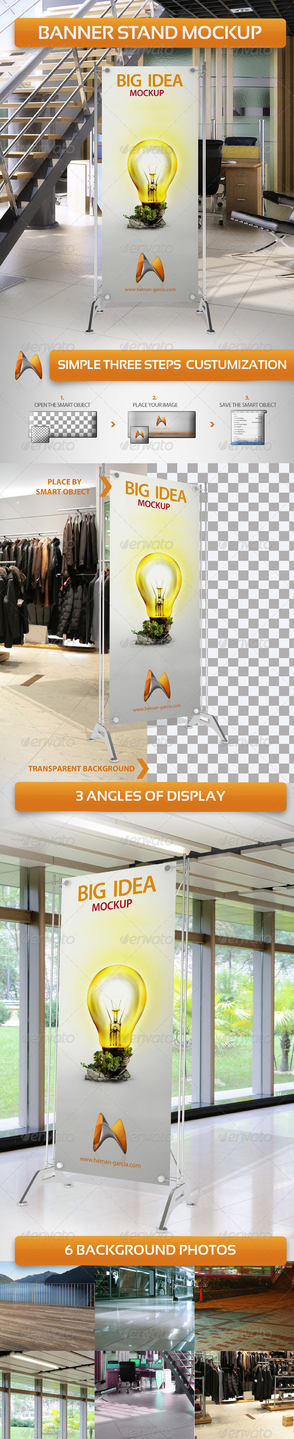GraphicRiver Banner Stand Mockup 3985536
