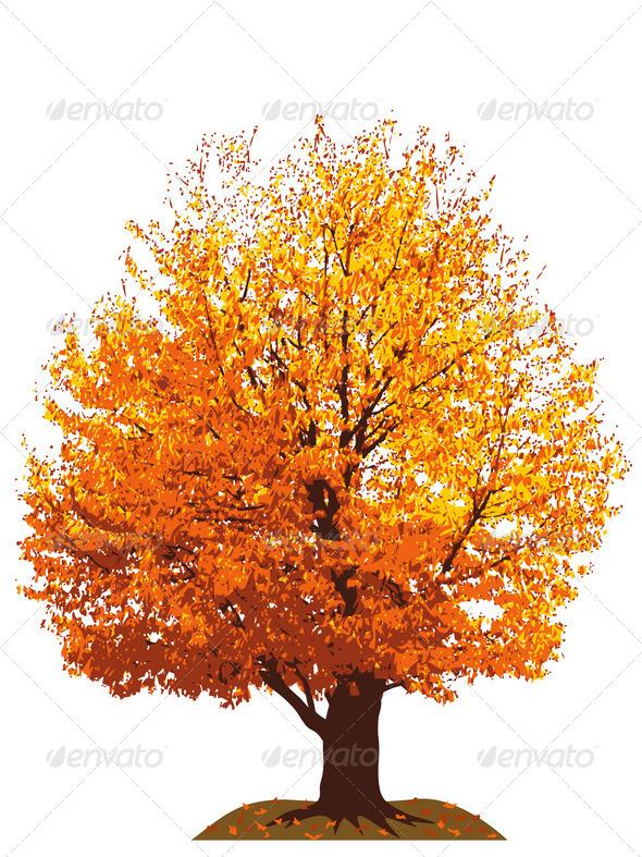 PhotoDune Autumn cherry tree vector illustration 3985691