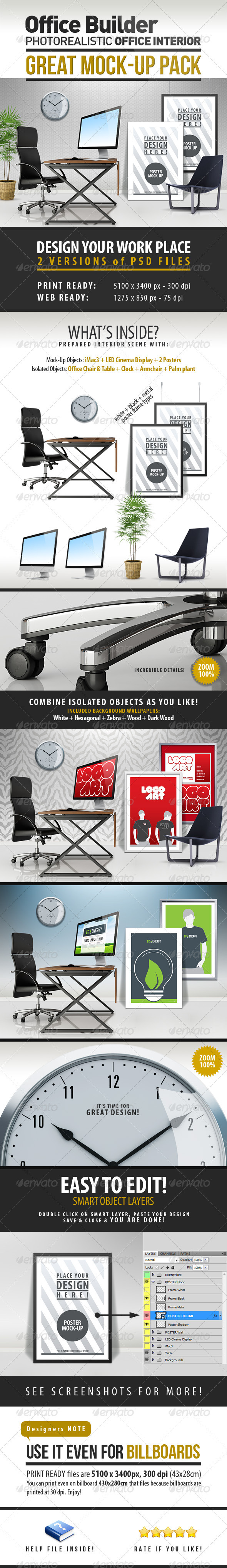 Office Interior Builder - Mock Up - Miscellaneous Product Mock-Ups