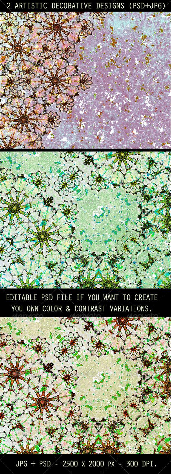 GraphicRiver 2 Artistic Decorative Designs 3986278