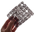 Holds in a hand a  circuit board on a white background - PhotoDune Item for Sale