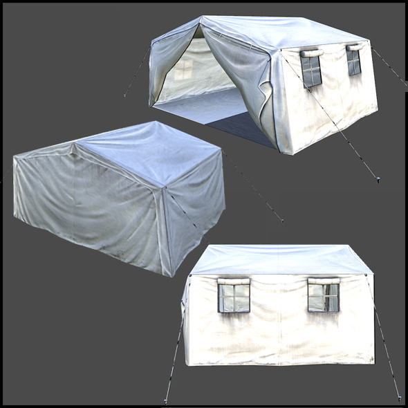 Midsize Tent - 3DOcean Item for Sale
