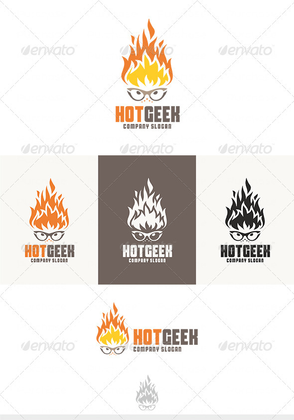 GraphicRiver Hot Geek Logo 3986549