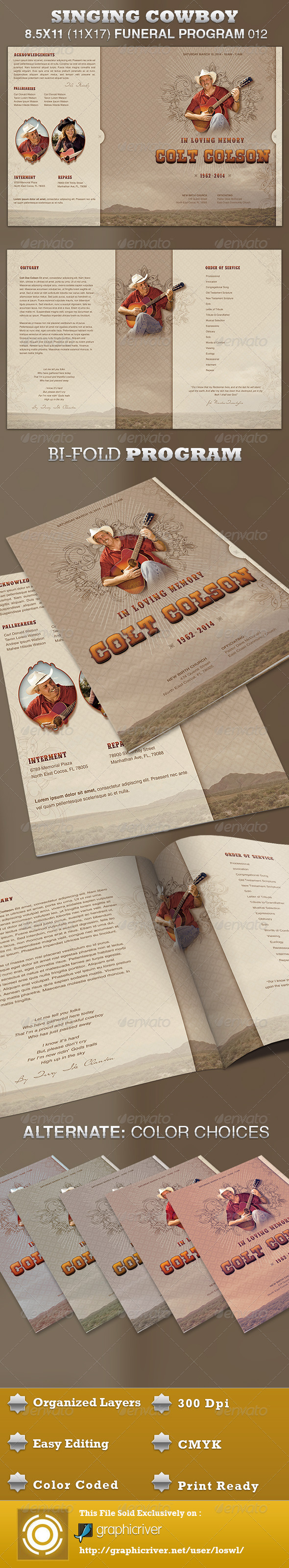 GraphicRiver Singing Cowboy Funeral Program Template 012 3986626