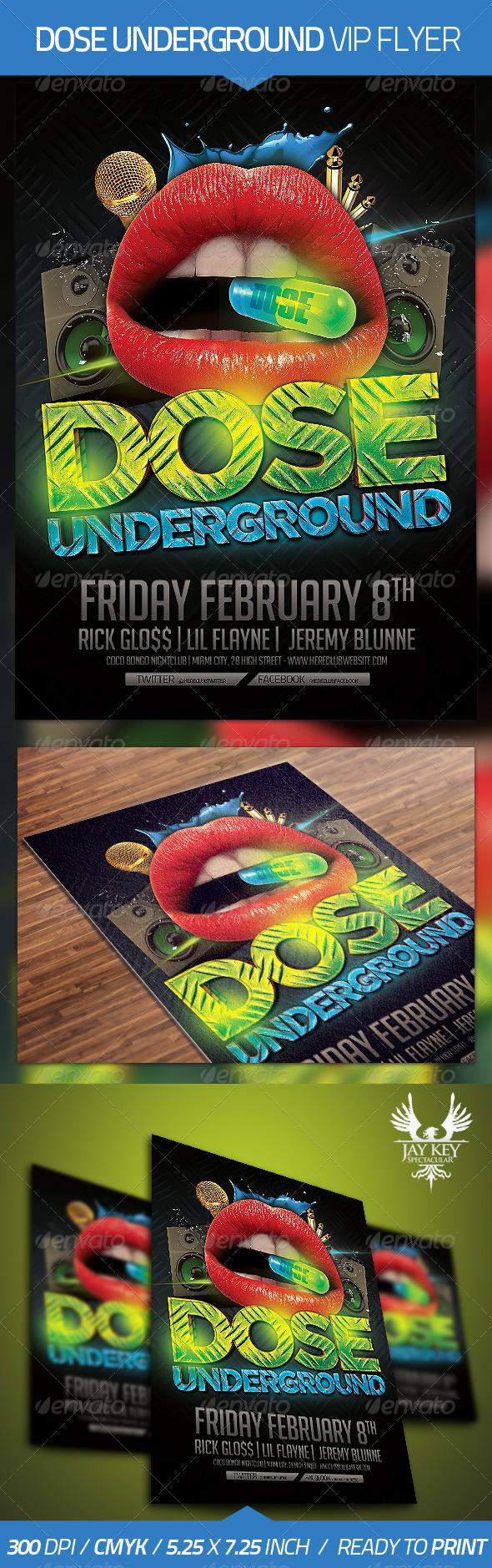 Dose Underground Hip Hop Flyer - Clubs & Parties Events