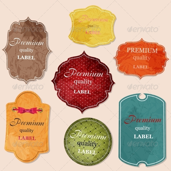 GraphicRiver aged paper labels vector illustration 3986825