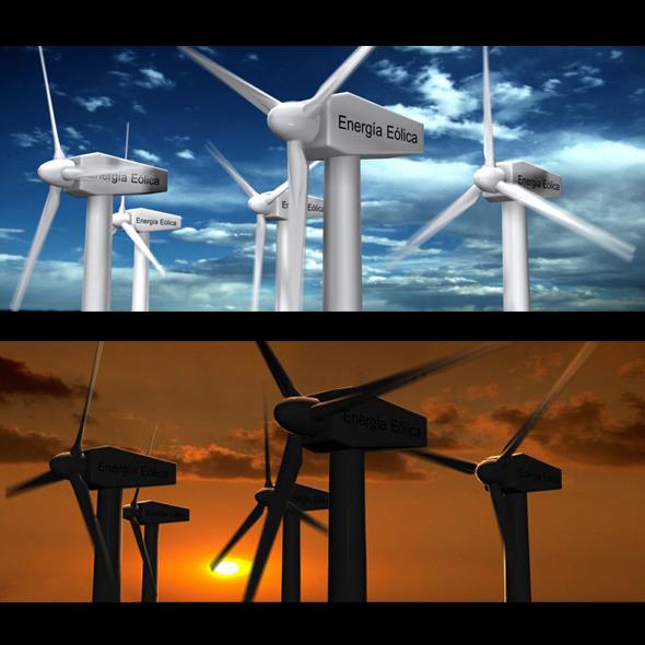 3DOcean Wind Eolic Turbine 3947666
