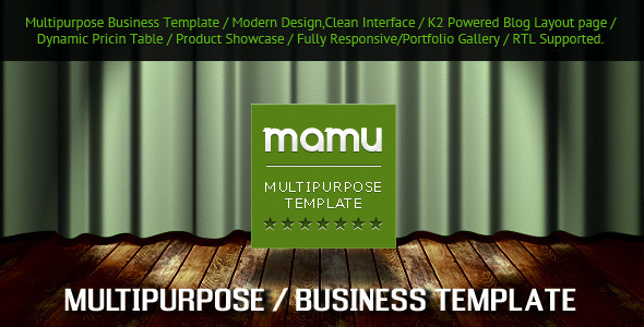 ThemeForest Mamu Responsive Multipurpose Joomla Template 3980441
