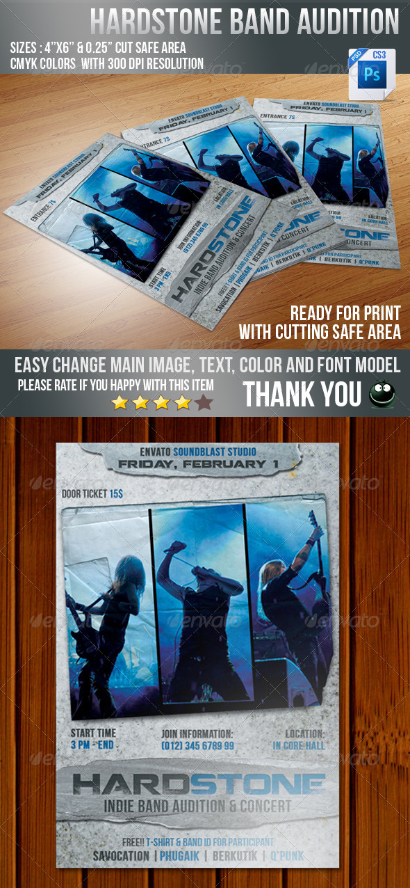 GraphicRiver Hard Stone Flyer 3987678