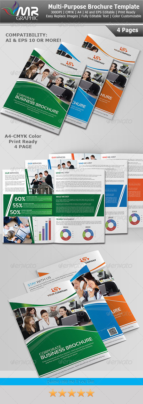 Multipurpose Business Brochure Template Vol-06 - Corporate Brochures