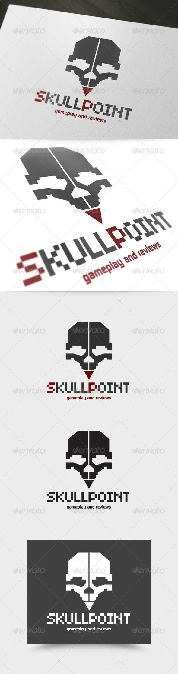 GraphicRiver Skull Point Logo 3988881