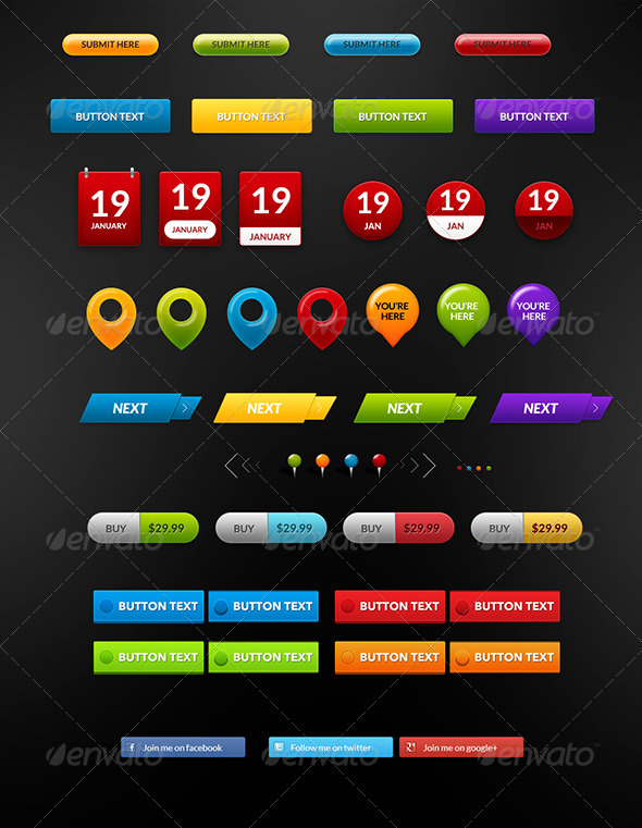GraphicRiver Buttons Pack 2 3988963