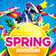 Spring Vacation Party Flyer - GraphicRiver Item for Sale