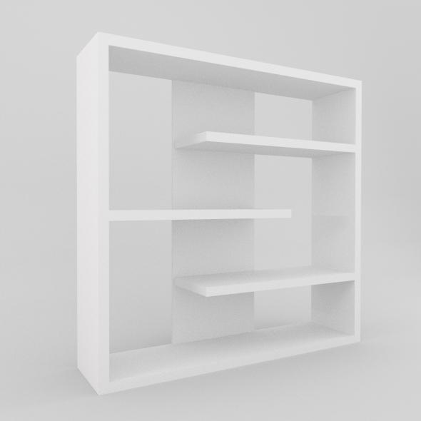 3DOcean Modern Bookcase 3990047