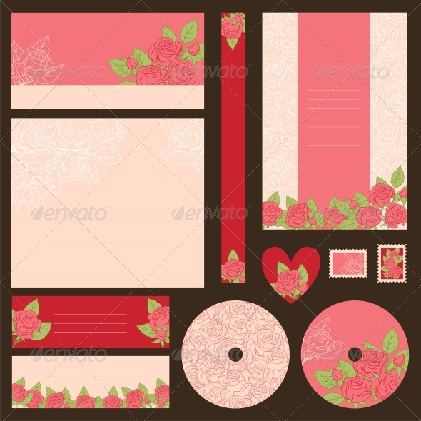GraphicRiver Set of wedding invitations 3990558