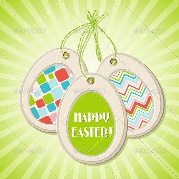 GraphicRiver Easter greeting card with easter eggs 3990599