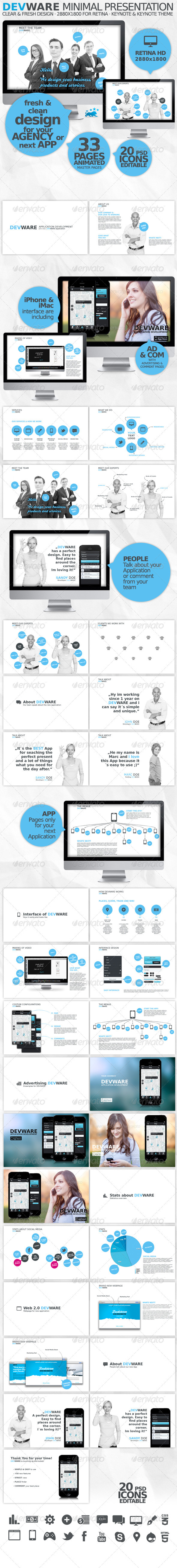 GraphicRiver DEVWARE 33 Pages Keynote Presentation 3897193