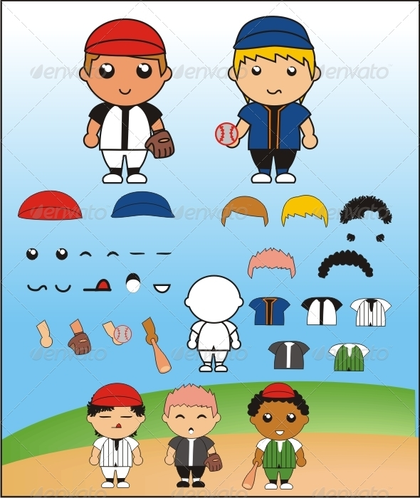 GraphicRiver Funny Simple Baseball Player 3991336