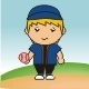Funny Simple Baseball Player - GraphicRiver Item for Sale