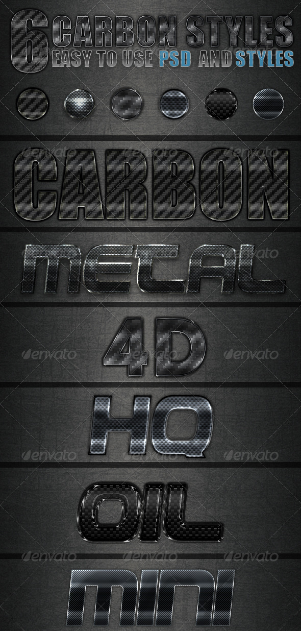 Carbon Styles - Text Effects Styles