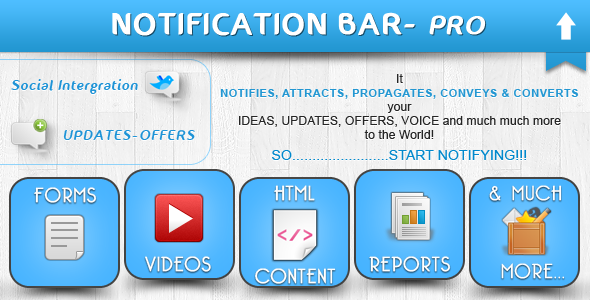 Notification Bar Plugin - CodeCanyon Item for Sale