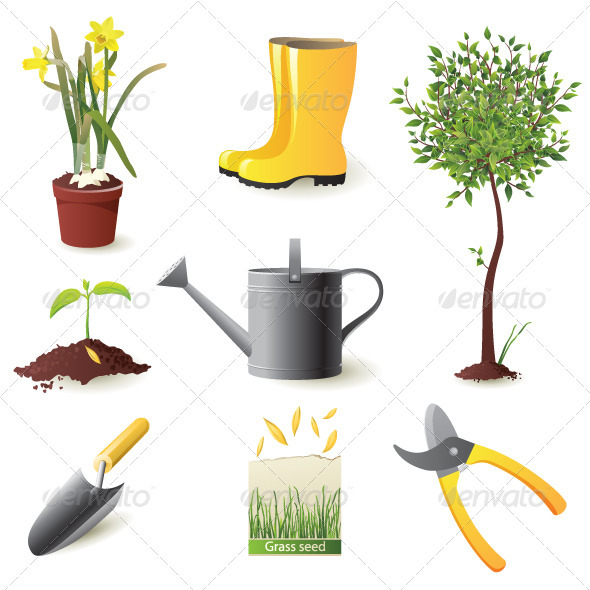 GraphicRiver Gardening Icons 3992845