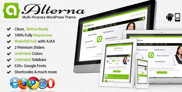 ThemeForest Alterna Retina Responsive Multi-Purpose WordPress Theme 3946450
