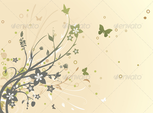 GraphicRiver Floral Background 3993140