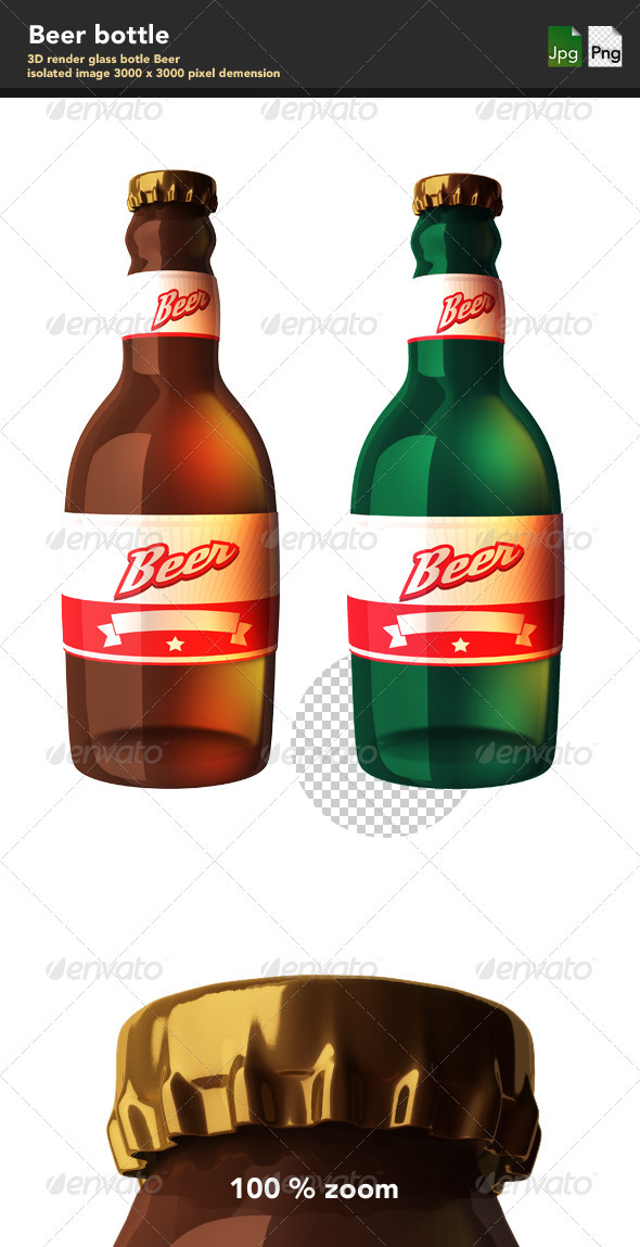 GraphicRiver Glass Bottle of Beer 3993147