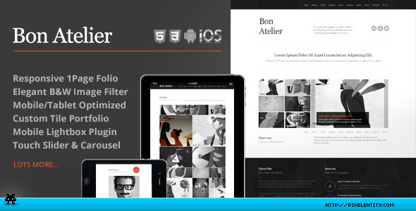 ThemeForest Bon Atelier Responsive One Page HTML5 Template 3993470