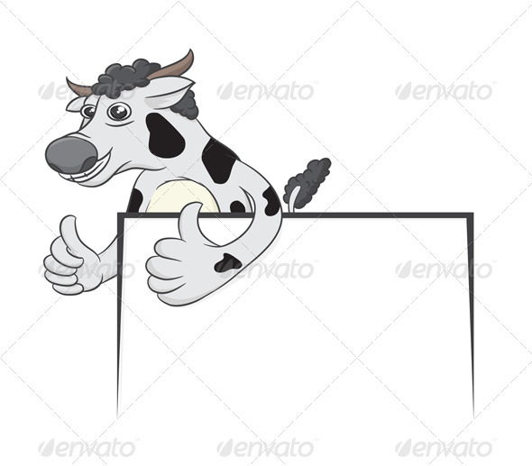 GraphicRiver Cow and White Board 3993518