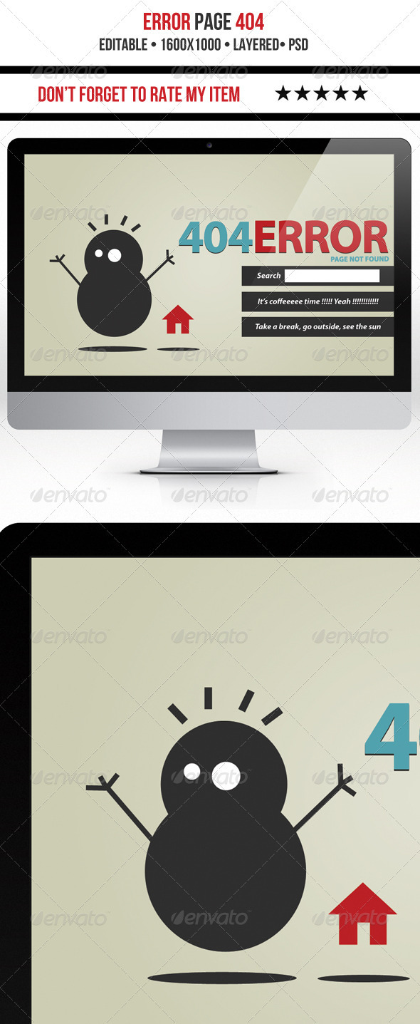 GraphicRiver Funny 404 Error 3993531