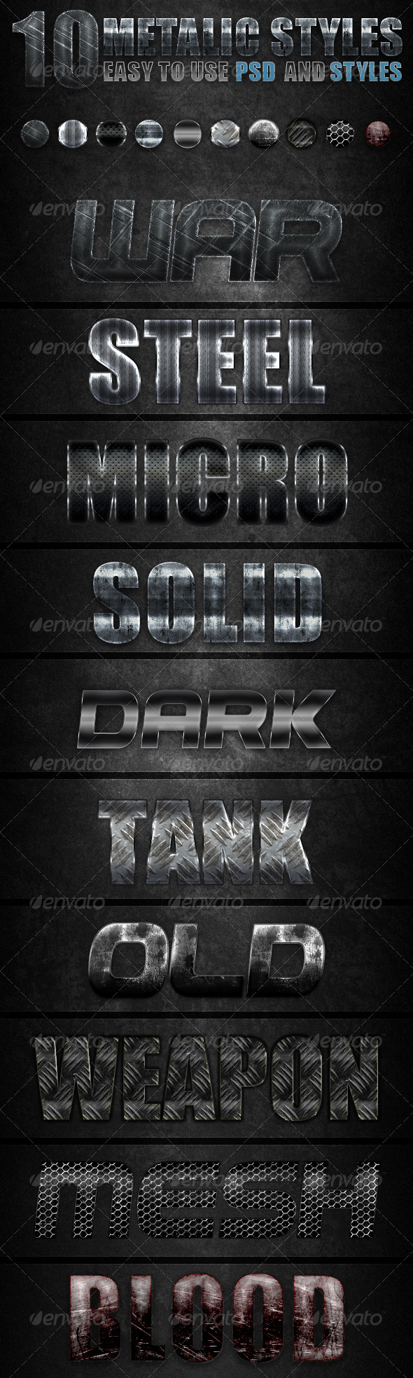 Metalic Styles - Text Effects Styles