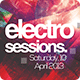 Electro Sessions Flyer Template - GraphicRiver Item for Sale