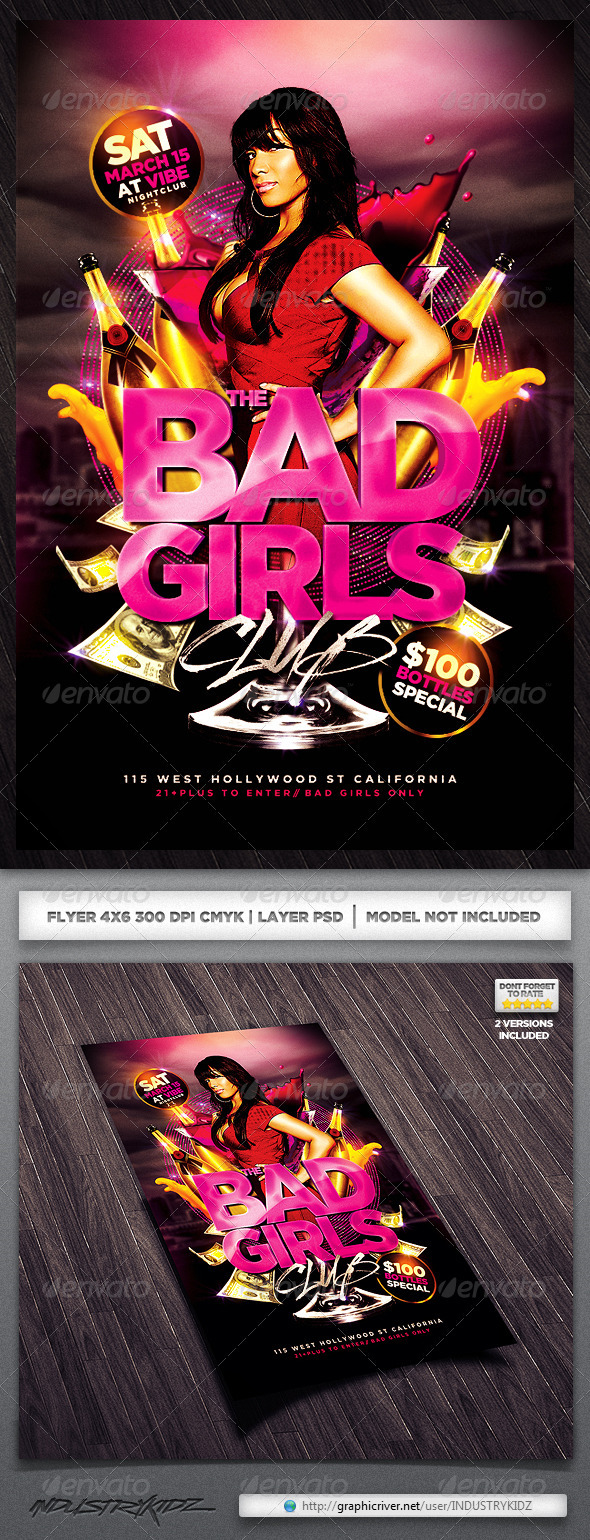 GraphicRiver Ladies night Flyer 3994554