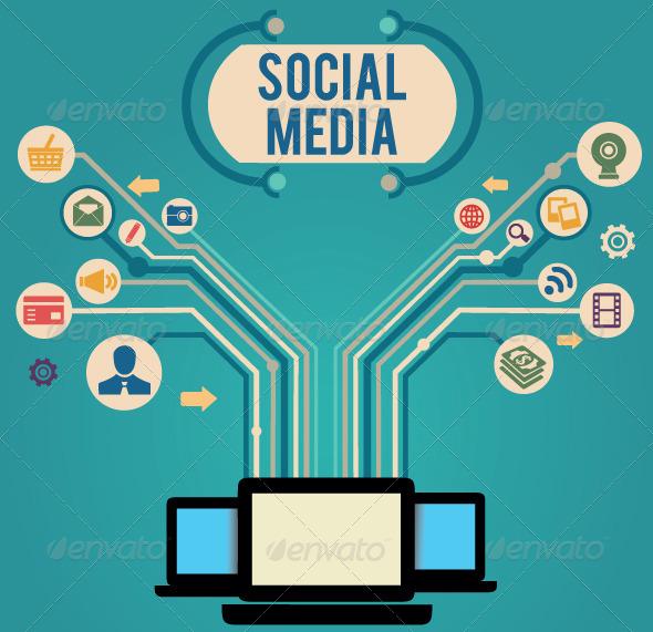 GraphicRiver Concept of Social Media 3994671