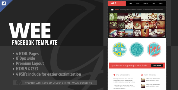 ThemeForest Wee Facebook Template 3991456