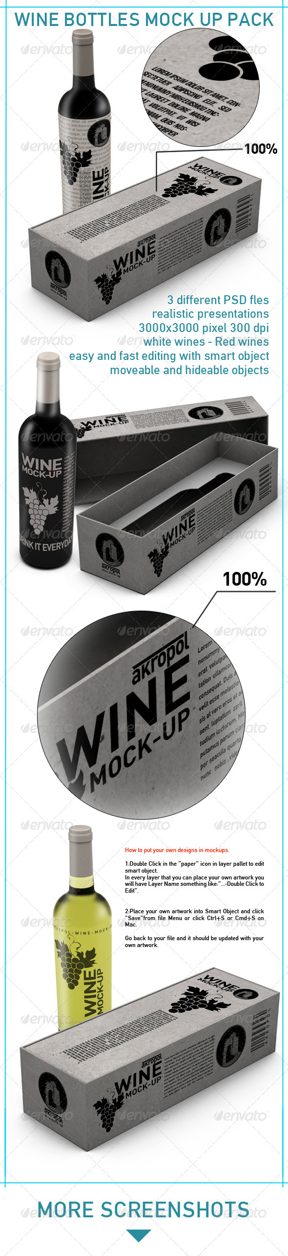 Wine Mockup - Food and Drink Packaging