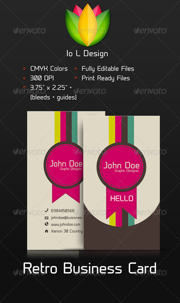 GraphicRiver Retro Business Card 3842724