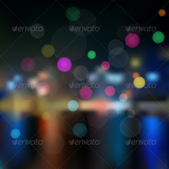 GraphicRiver Night in City Background 3995531
