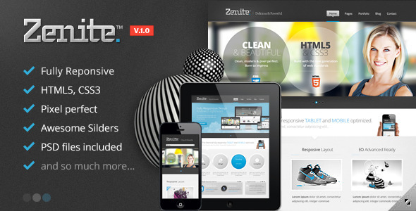 ThemeForest Zenite Responsive HTML5 Template 3984357
