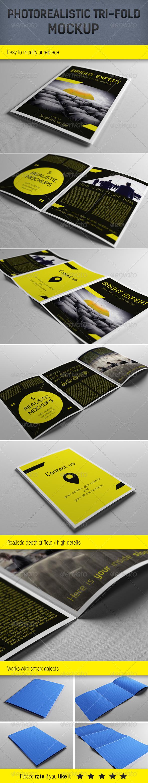 GraphicRiver Realistic A5 Brochure Mockup Template 3995902
