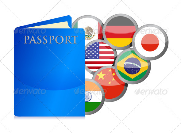 PhotoDune concept of the passport and countries of the world 3997429