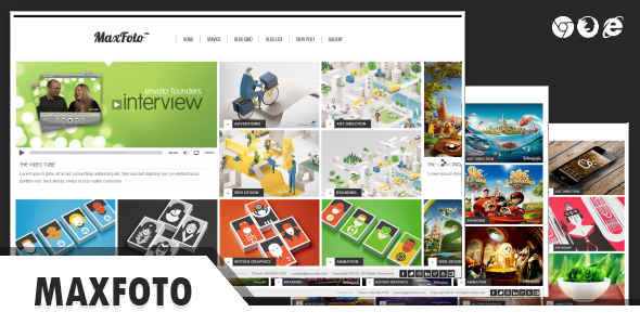 MaxFoto Clean Gallery HTML5 Template