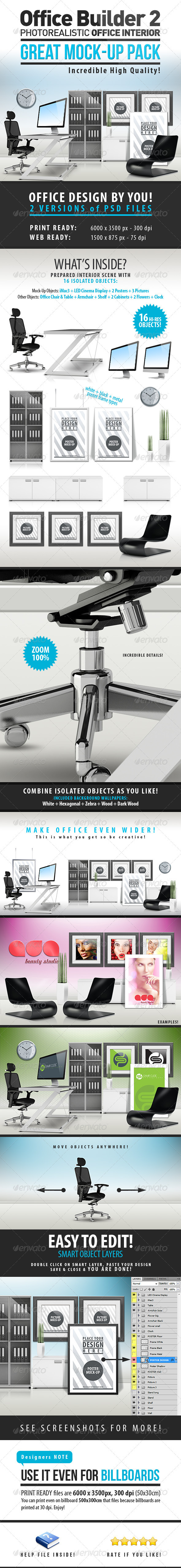 GraphicRiver Office Builder 2 Great Mockup Pack 3897891