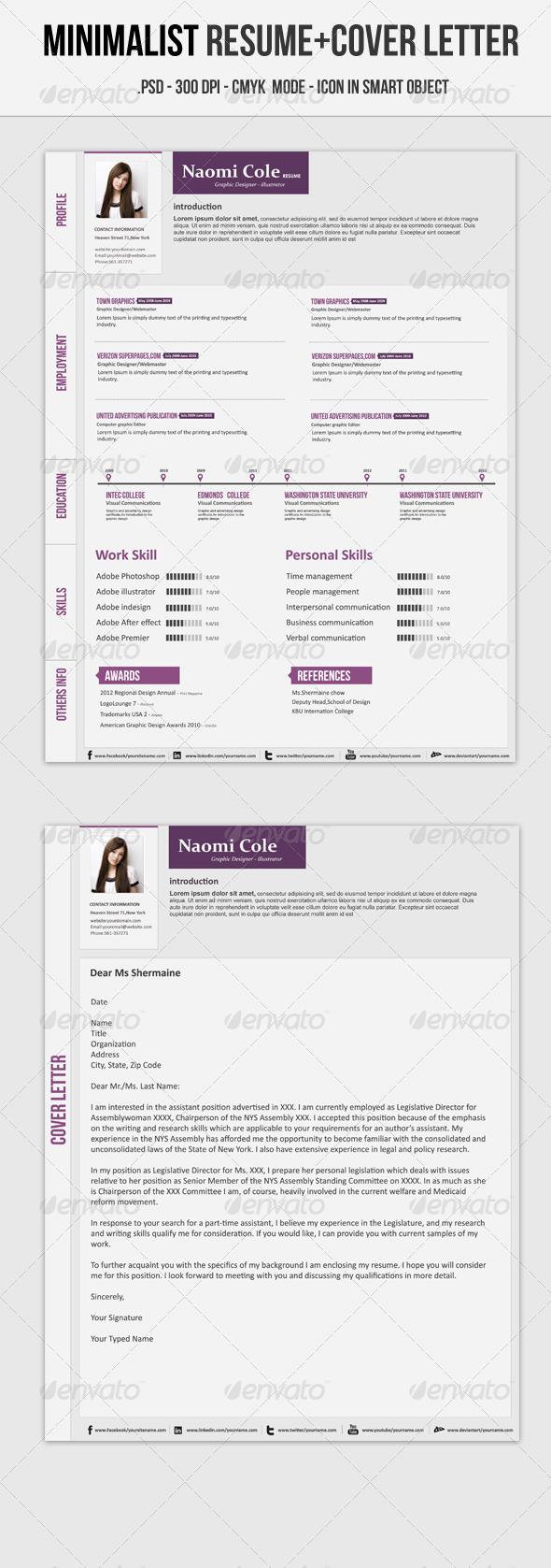 GraphicRiver Minimalist Resume 3886337