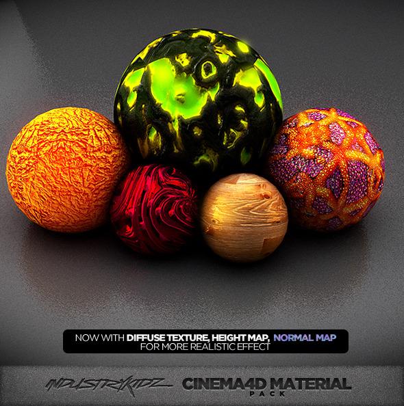 3DOcean Cinema 4d Material pack V2 3996947