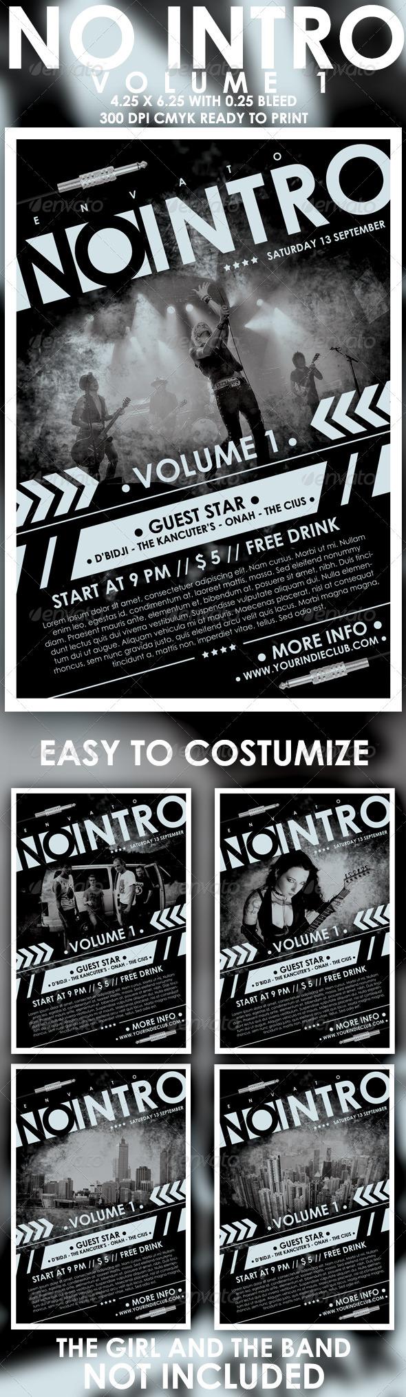 GraphicRiver No Intro Vol 1 Flyer Template 3902191