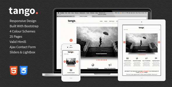 ThemeForest Tango Responsive HTML5 Template 3997150