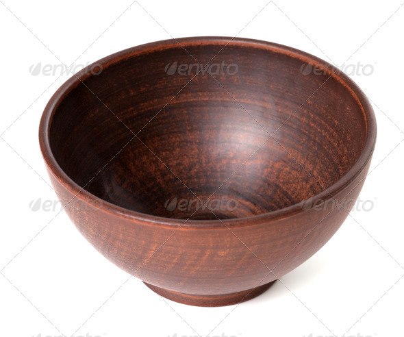 Empty ceramic bowl - Stock Photo - Images